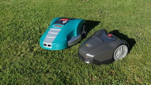 DE SMARTE: Bosch og Stiga har en rekke avanserte funksjoner.  Foto: RUNE M. NESHEIM
