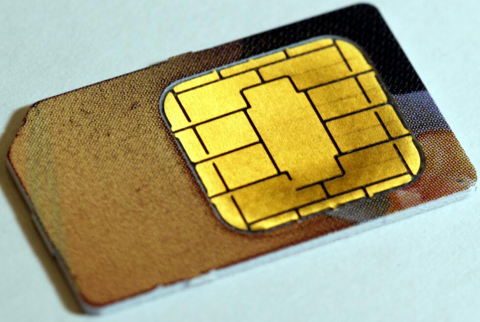 KAN FORSVINNE: SIM-kortenes tid kan være over dersom Apple og Samsung innfører den nye «e-Sim»-standarden neste år. Foto: SCANPIX NTB