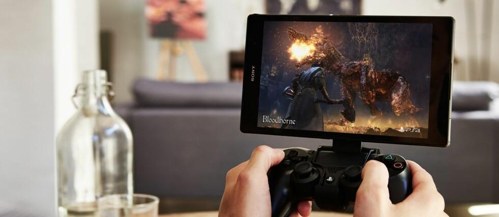 SPILL FRA NETTBRETT: Med Remote Play kan du spille PS4-spill uten å okkupere TV-en.