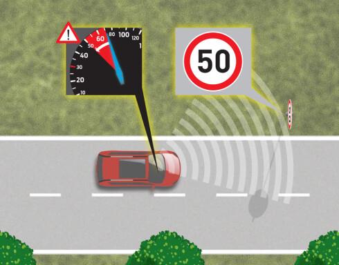 <b>HASTIGHETSBEGRENSER</b> En annen tilleggsfunksjon er hastighetsbegrenseren. Den skal hjelpe deg å holde fartsgrensen om du ikke følger med på skilting.  Foto: FORD