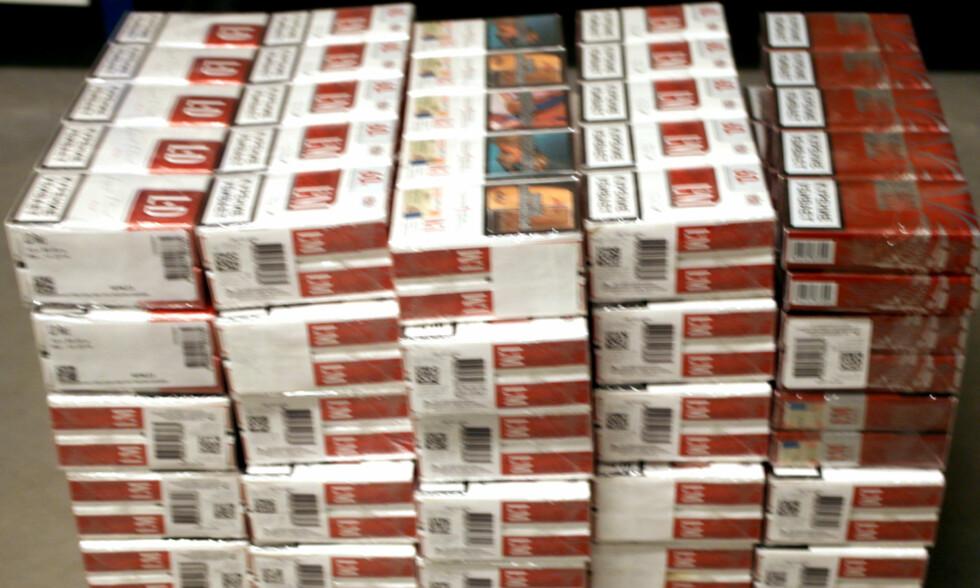 TATT: Sigaretter. Foto: TOLLVESENET