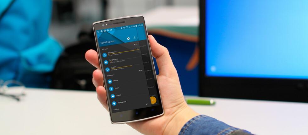 PEN: Solid Explorer er en pen filutforsker til Android som i tillegg har rikelig med funksjonalitet. Foto: ANTONIN FELS/PÅL JOAKIM OLSEN