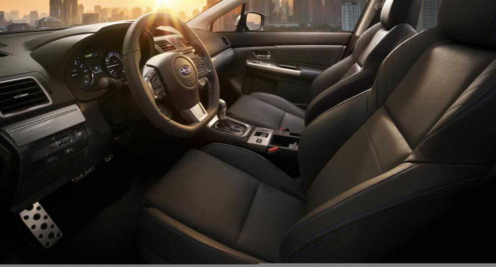 YNGRE: Subaru tror Levorg kan treffe en yngre publikum. De har hvert fall gjort interiøret mer sporty. Foto: SUBARU