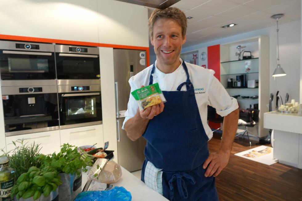 JUKSERAVIOLI: Wonton-papir er akkurat som pastadeig, og perfekt når du skal lage mat fort, sier Øyvind Medbostad til Dinside. Foto: ELISABETH DALSEG