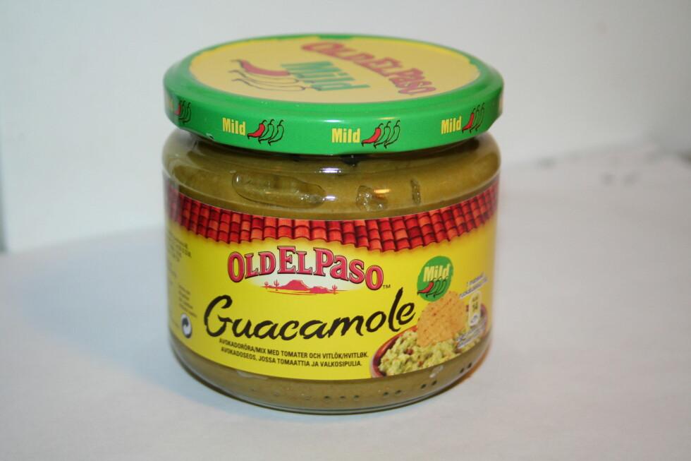 <strong><b>ERTER:</strong> </b>Old El Paso sin guacamole inneholdt massevis av erter. For farge og konsistens, visstnok. Foto: BERIT B. NJARGA