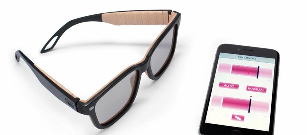 REGULERBAR: Skugga er solbriller med regulerbar skyggelegging. Foto: SKUGGA