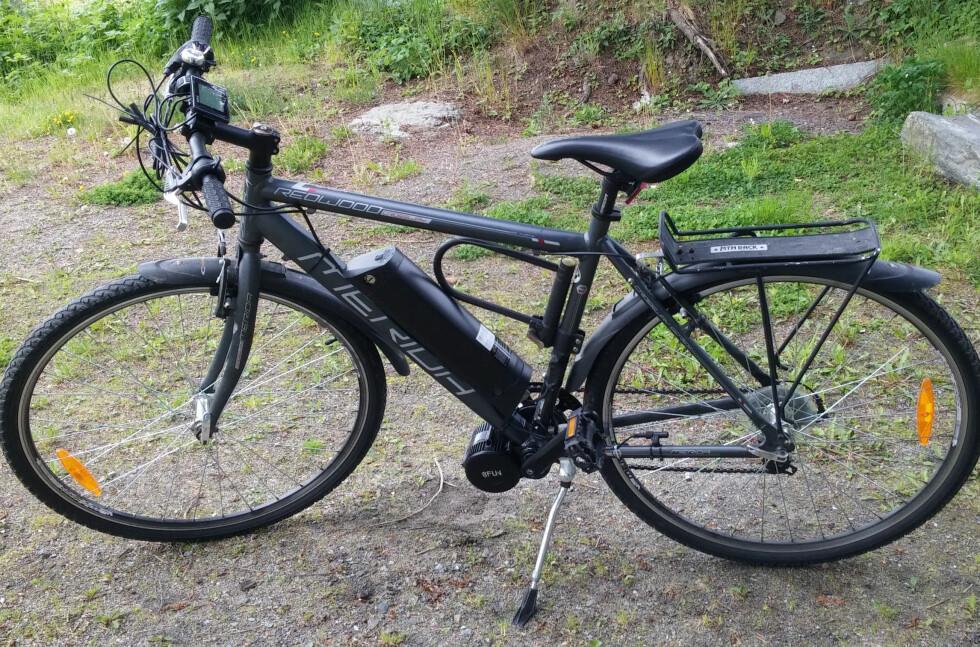 SELVGJORT! Ved å bygge om vår egen sykkel til elsykkel, sparte vi tusenvis av kroner. Foto: BRYNJULF BLIX