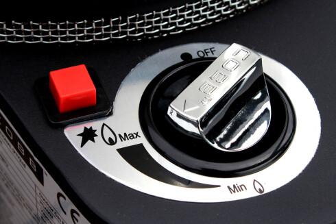 <strong><b>START OG FYR:</strong></b> Enkel start, og hjulet for varmejustering fungerer fint. Foto: OLE PETTER BAUGERØD STOKKE
