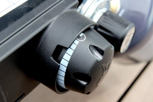 <strong><b>FULL KONTROLL:</strong></b> Fint varmejusteringshjul. Foto: OLE PETTER BAUGERØD STOKKE