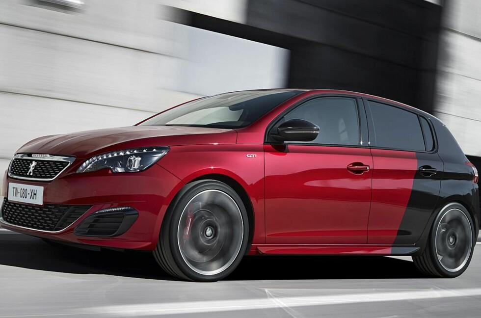 VISES I SEPTEMBER: Nye Peugeot 308 GTi vil vises på messen i Frankfurt fra 15. september i år. Foto: PEUGEOT