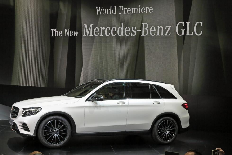 ENDELIG OFFISIELL: Så har Mercedes-Benz lansert sin nye GLC. Det skjedde på Hugo Boss sitt hovedkvarter denne uken.  Foto: Fred Magne Skillebæk