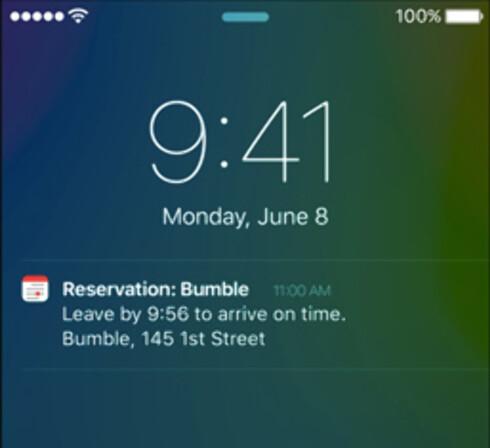 SOM HENTET FRA KONKURRENTENE: Apple er ikke de første til å minne på brukerne når de bør dra for å rekke neste avtale. Foto: APPLE