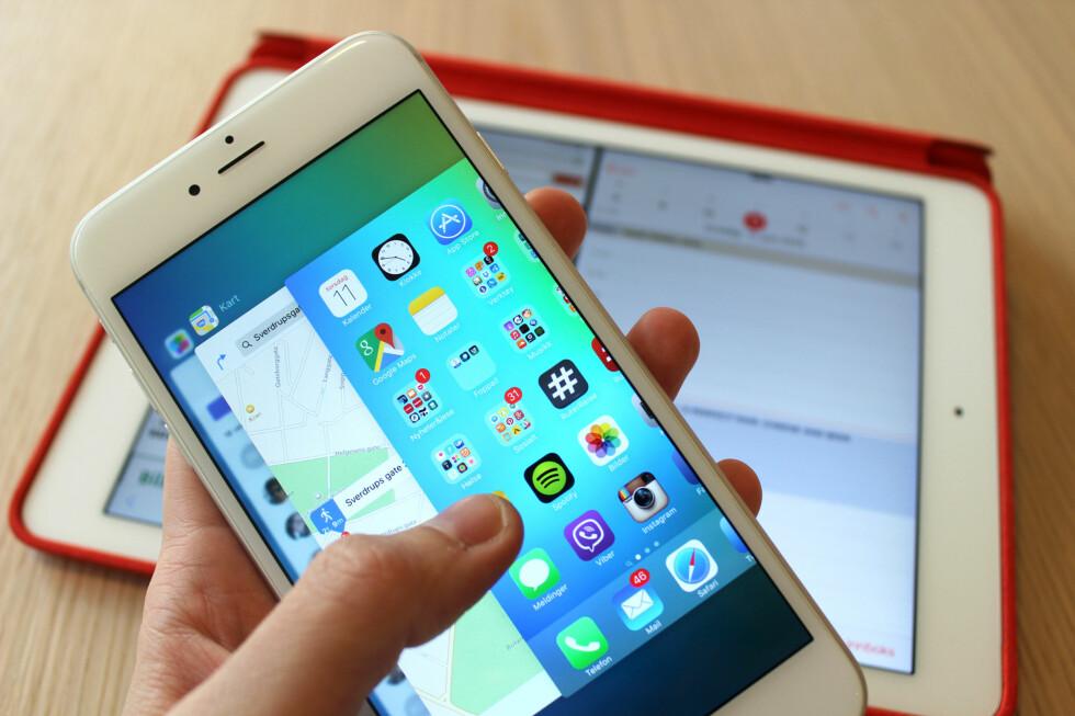 OPPDATERES I HØST: I september kommer en ny versjon av operativsystemet til iPhone og iPad. Men hva er nytt? Foto: KIRSTI ØSTVANG