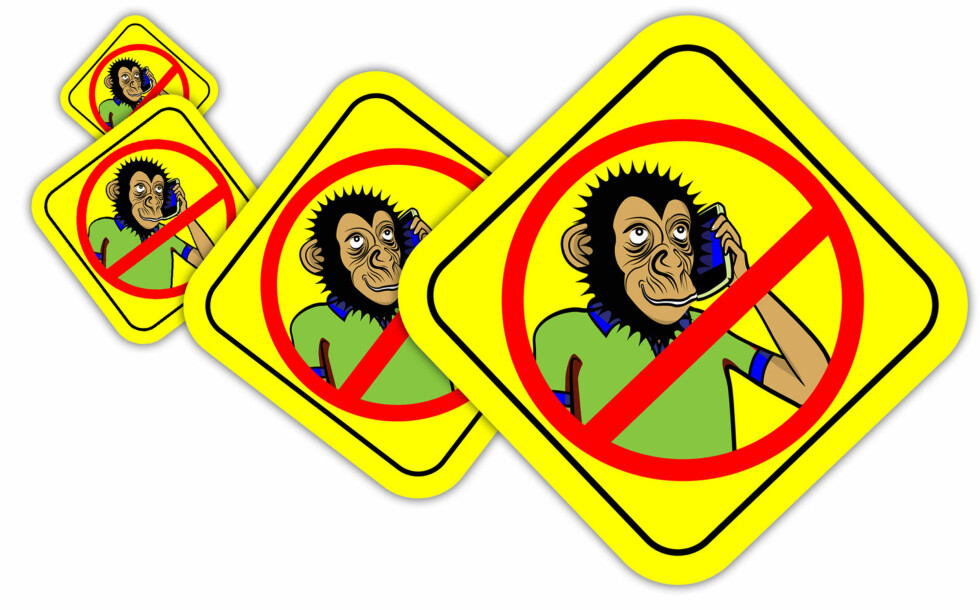 FOLKEAKSJONEN MOT APESNAKKING: Vi skal ikke starte den selv, men her er et forslag til klistremerker. Foto: ESANCAI / NTB SCANPIX