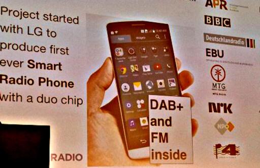 FØRSTE MOBIL MED DAB: LG skal være på vei med en telefon der både DAB+ og FM er innebygd. Foto: TORE NESET