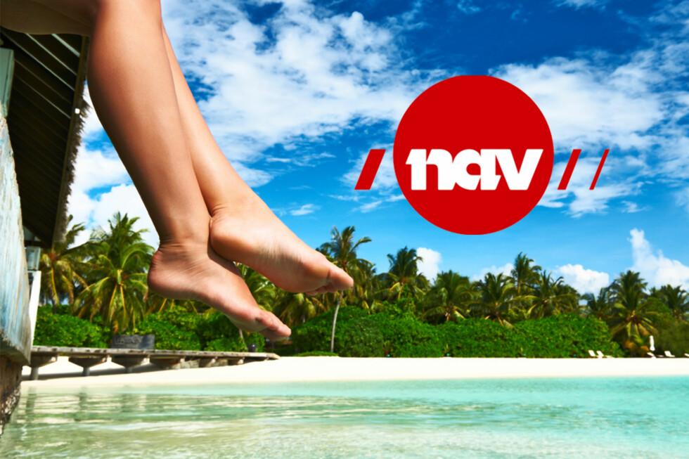 DOBBELTSJEKK: Ikke reis på ferie til utlandet uten å sjekke om du kan beholde stønaden fra NAV mens du er borte. Foto: MONTASJE/NTB SCANPIX