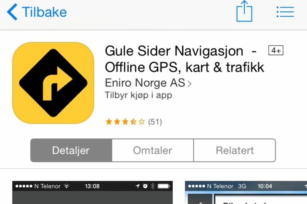 SØK UTEN NETT: Gule Sider navigasjon lar deg søke uten nett. Du kan også søke på personer, bedrifter og restauranter.  Foto: MORTEN MOUM