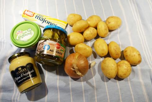 KLASSISK: Vanlig potetsalat er mye, mye bedre om du lager den selv.  Foto: ELISABETH DALSEG