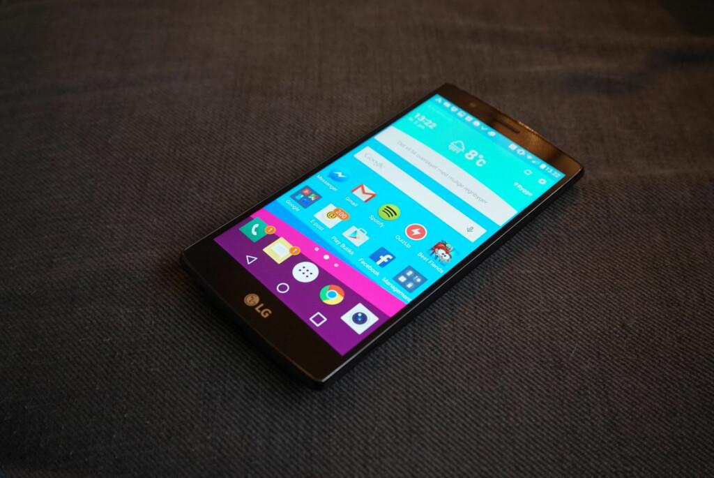 """STOR OG SKARP: 5,5""""-skjermen på LG G4 er svært skarp og byr på gode farger og godt sortnivå."""