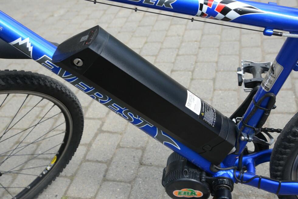 BATTERI:  Batteriet er avgjørende for både ytelse og rekkevidde. Foto: BRYNJULF BLIX