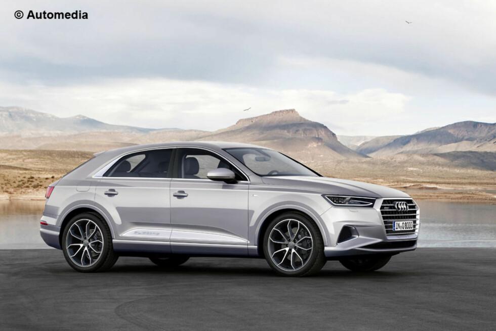 Q7 PLUSS: Q8 blir en mer høytrangerende modell på rangsstigen hos Audi enn den mer voluminøse Q7 - som BMW X6 er i forhold til X5. Foto: AUTOMEDIA