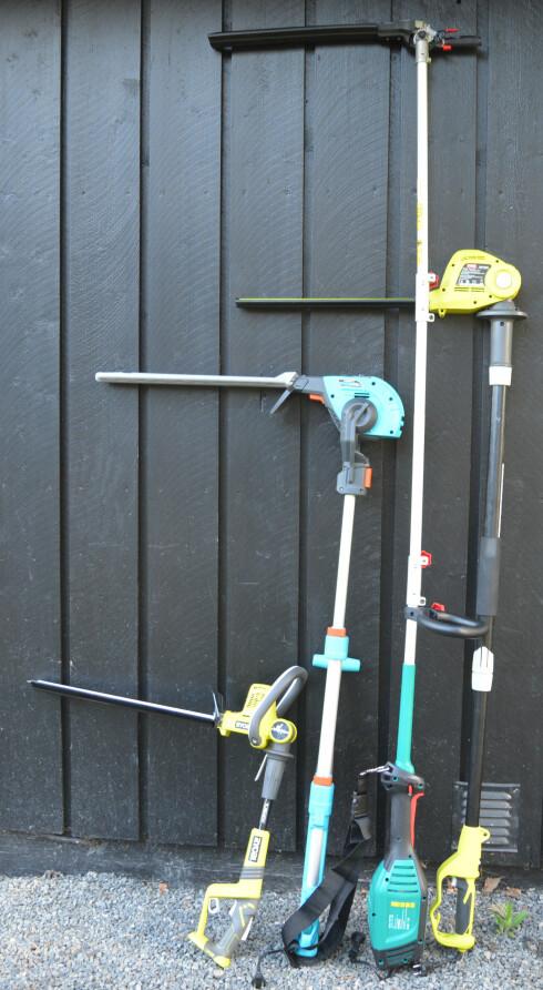 HEKKSAKSER:  Hekksaks er et ypperlig verktøy, som finnes med eller uten ledning og i mange høyder. Foto: BRYNJULF BLIX