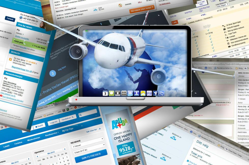 BILLIGST HOS REISESØKEMOTORENE: Vi fant de billigste flybillettene hos reisesøkemotorene. Uten unntak. Foto: NTB SCANPIX/KRISTIN SØRDAL