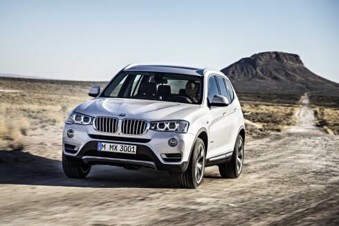MER KLASSISK FØR: Dette er dagens X3 etter ansiktsløftningen. Med neste generasjon virker det som om BMW vil ta skrittet fullt ut.