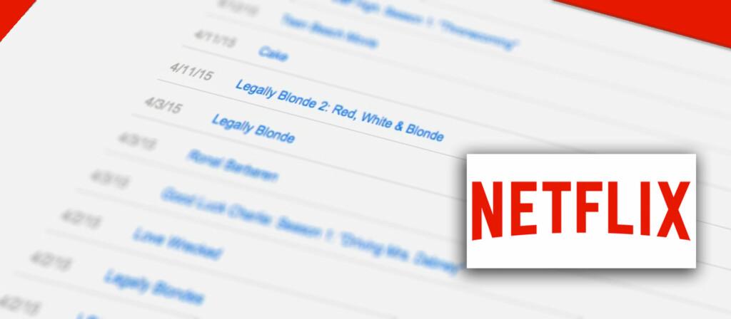 <strong>IKKE ALT DU ER LIKE STOLT AV?</strong> Netflix tar vare på alt du har sett, men du kan selv fjerne elementer fra lista. Foto: PÅL JOAKIM OLSEN