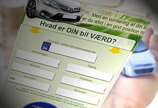 Advarer mot tjenester for prisvurdering av bil
