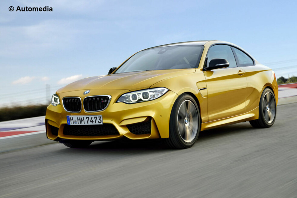 SKIKKELIG MOROBIL: BMW M2 kommer til høsten. Foto: AUTOMEDIA