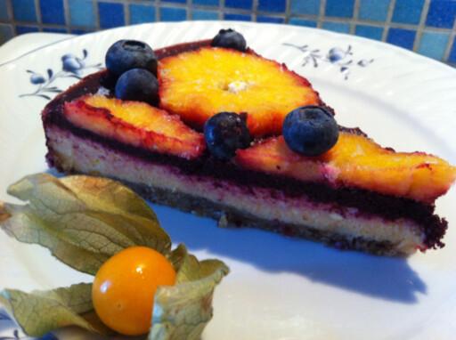 Rå ostekake: Denne er frisk og god på en varm sommerdag Foto: THOMAS OLSEN