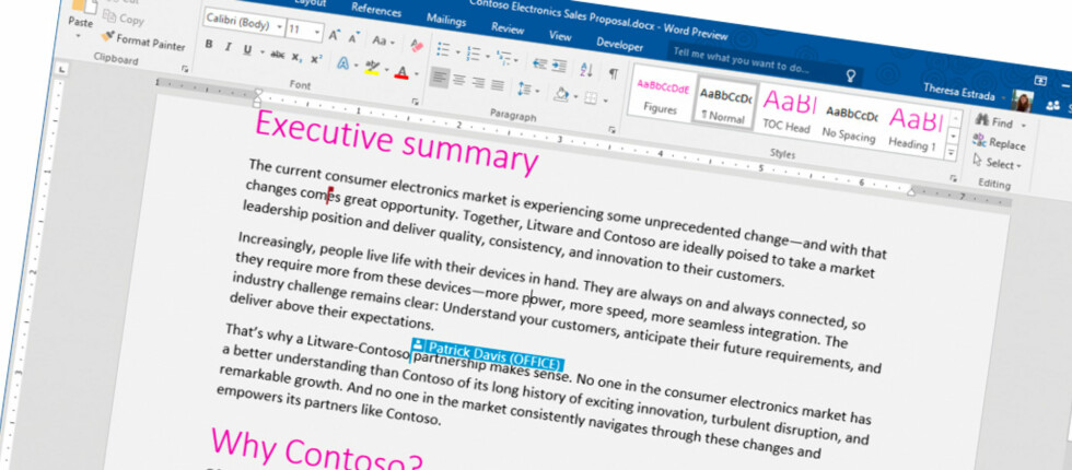 NY VERSJON: Nå kan alle som vil prøve ut neste versjon av Office; Office 2016. Foto: MICROSOFT