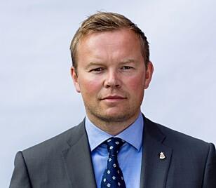 KRITISK TIL TESTEN: Informasjonsdirektør Rune Gutteberg Hansen i Volvo Car Norway. Foto: Volvo