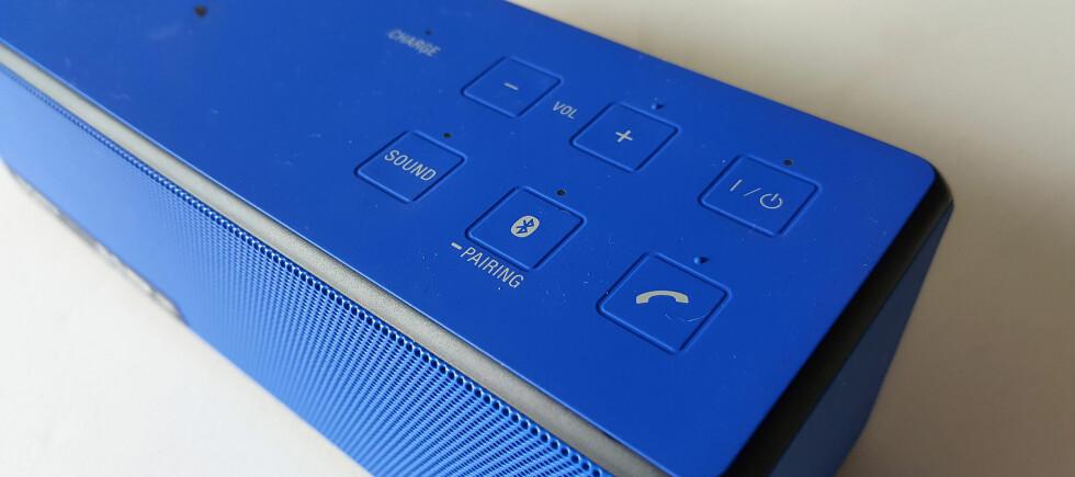 LÅTER BRA: På moderat lydstyrke er vi svært godt fornøyde med lyden fra Sonys nye SRS-X33. Foto: PÅL JOAKIM OLSEN