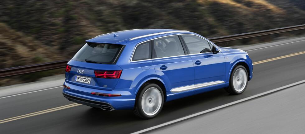STORE FORVENTNINGER: Q7 skapte liv og røre da den kom sist. Nå er det igjen stor spenning til Audis største SUV.  Foto: Audi