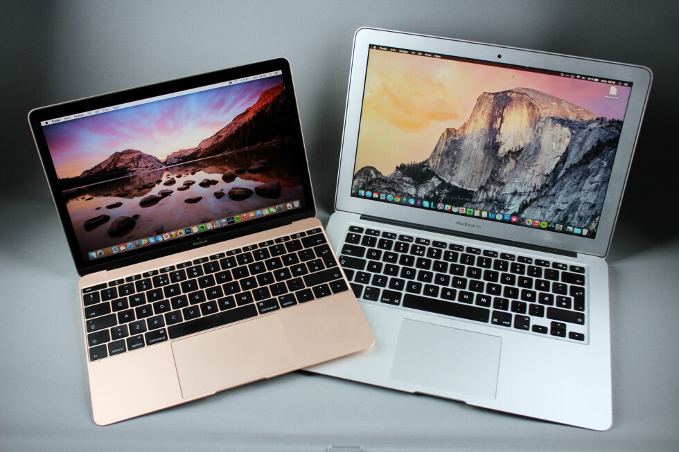 ENDA MER KOMPAKT: MacBook-en får MacBook Air til å se gammeldags og klumpete ut. Foto: KIRSTI ØSTVANG