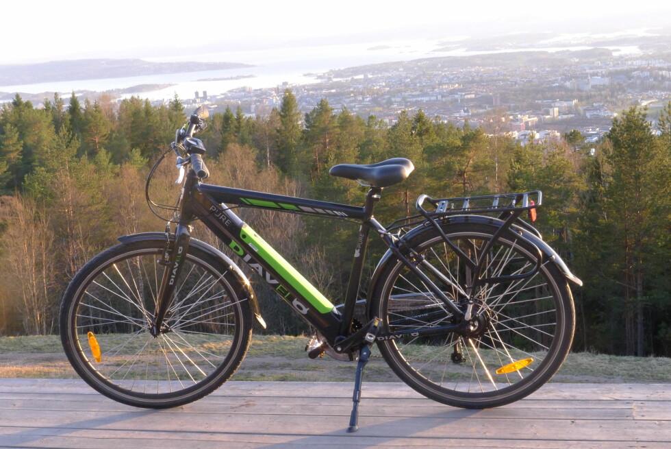 RASKT OPPE: Lyst på en tur til Oslos topp? Ikke noe problem! Foto: TORE NESET