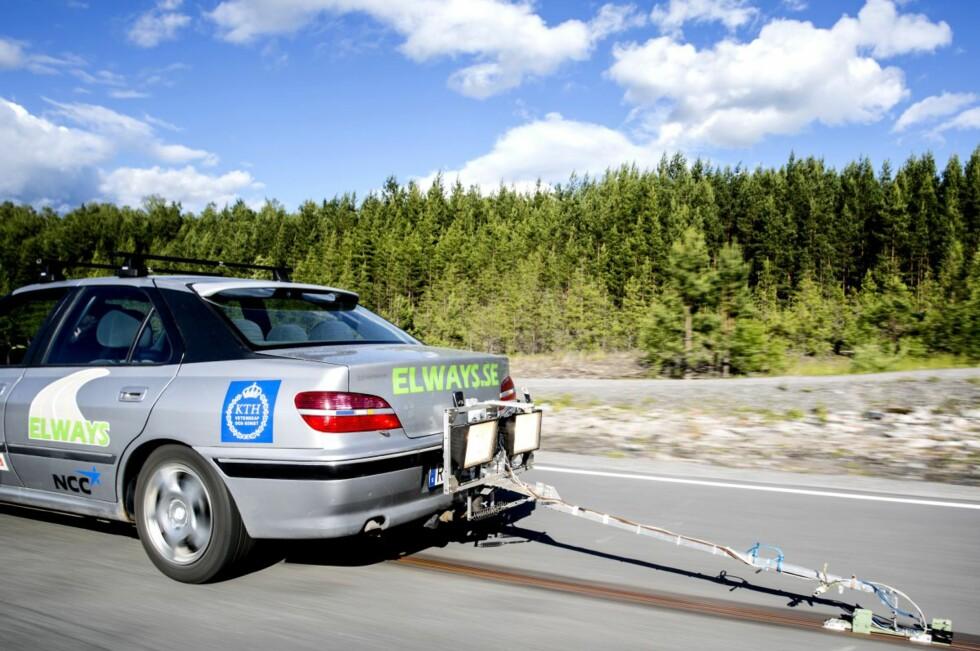 Elways testing at Arlanda test track