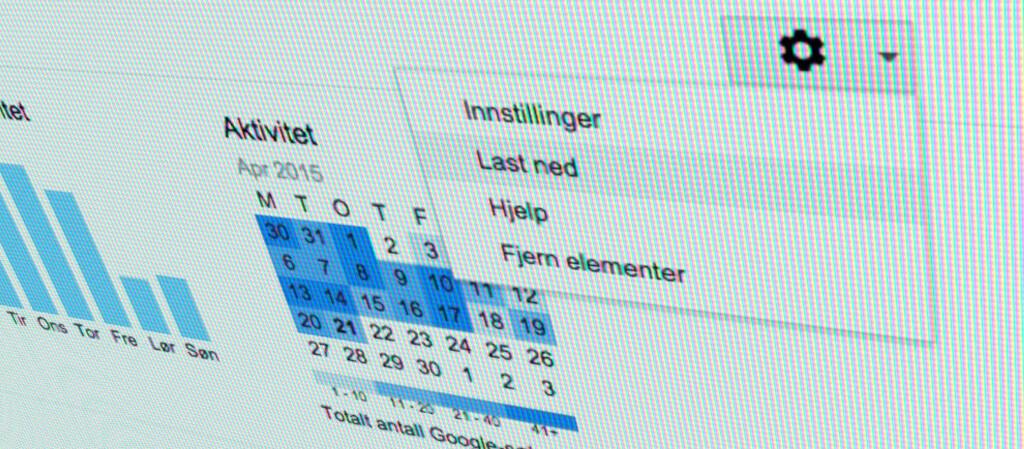 <strong>LAST NED ALT:</strong> Muligens har du søkt tusenvis av ganger på Google –nå kan du laste ned en fil med alt du har søkt etter. Foto: PÅL JOAKIM OLSEN