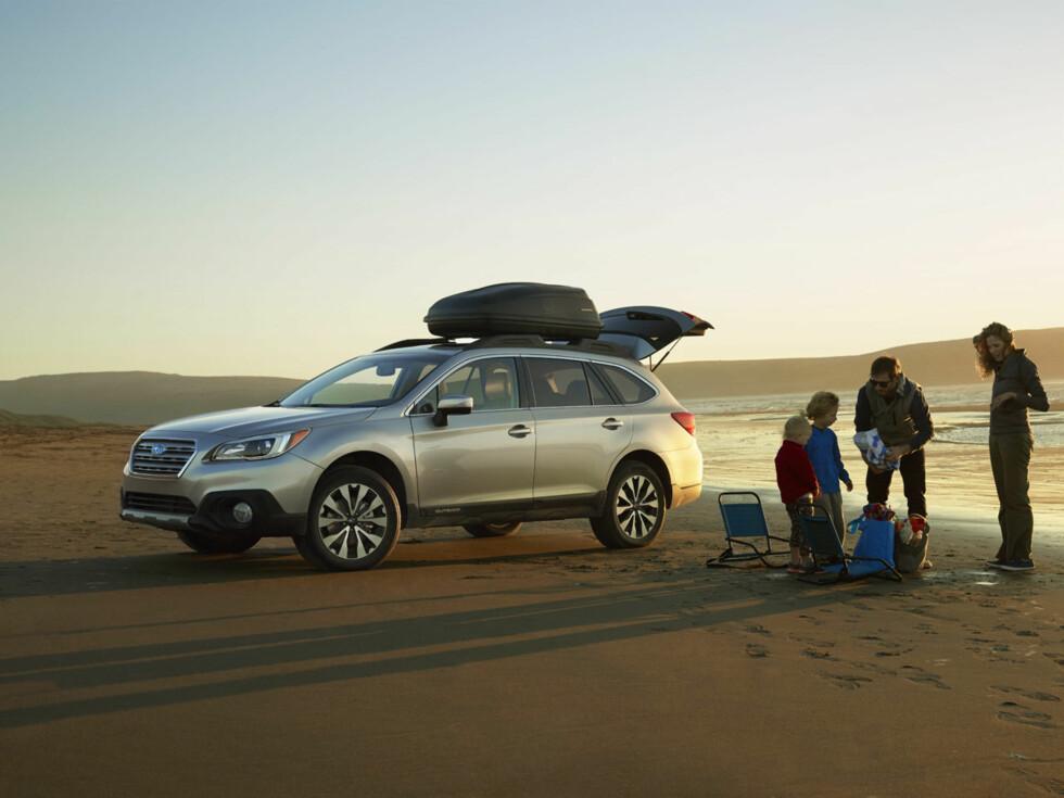<strong><B>FLEKSIBEL:</strong></B> Subaru Outback er den mest praktiske bilen.  Foto: SUBARU