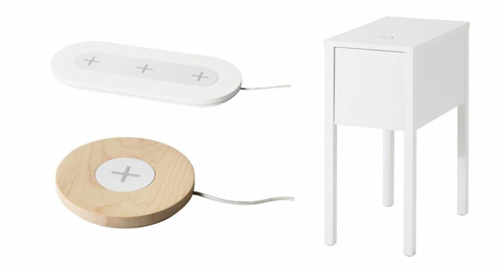 ALTERNATIVER:  Ikea har flere andre ladeløsninger som fungerer på samme måte, men monteres eller plasseres annerledes. Her er noen av dem. Foto: IKEA
