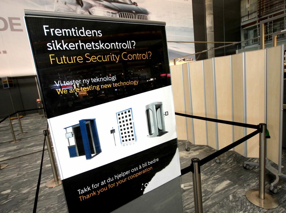 HVA ER BEST? Alle sikkerhetsskannerne som testes ut er godkjent for bruk i EU. Foto: OLE PETTER BAUGERØD STOKKE