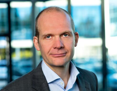 FOR FØRSTE GANG: Aldri før har VW levert DSG og firehjulsdrift i kombinasjon med både diesel og bensinmotor, kan VW-sjef Ulf Tore Hekneby (bildet), fortelle. Foto: HARALD A. MØLLER