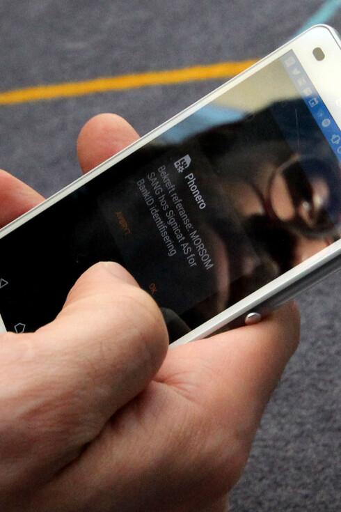 SOM NØKKEL: Nøkkelen er byttet ut med BankID på mobil. Det samme kan man gjøre med kodelåser, men innloggingen gjør løsningen sikrere. Foto: OLE PETTER BAUGERØD STOKKE