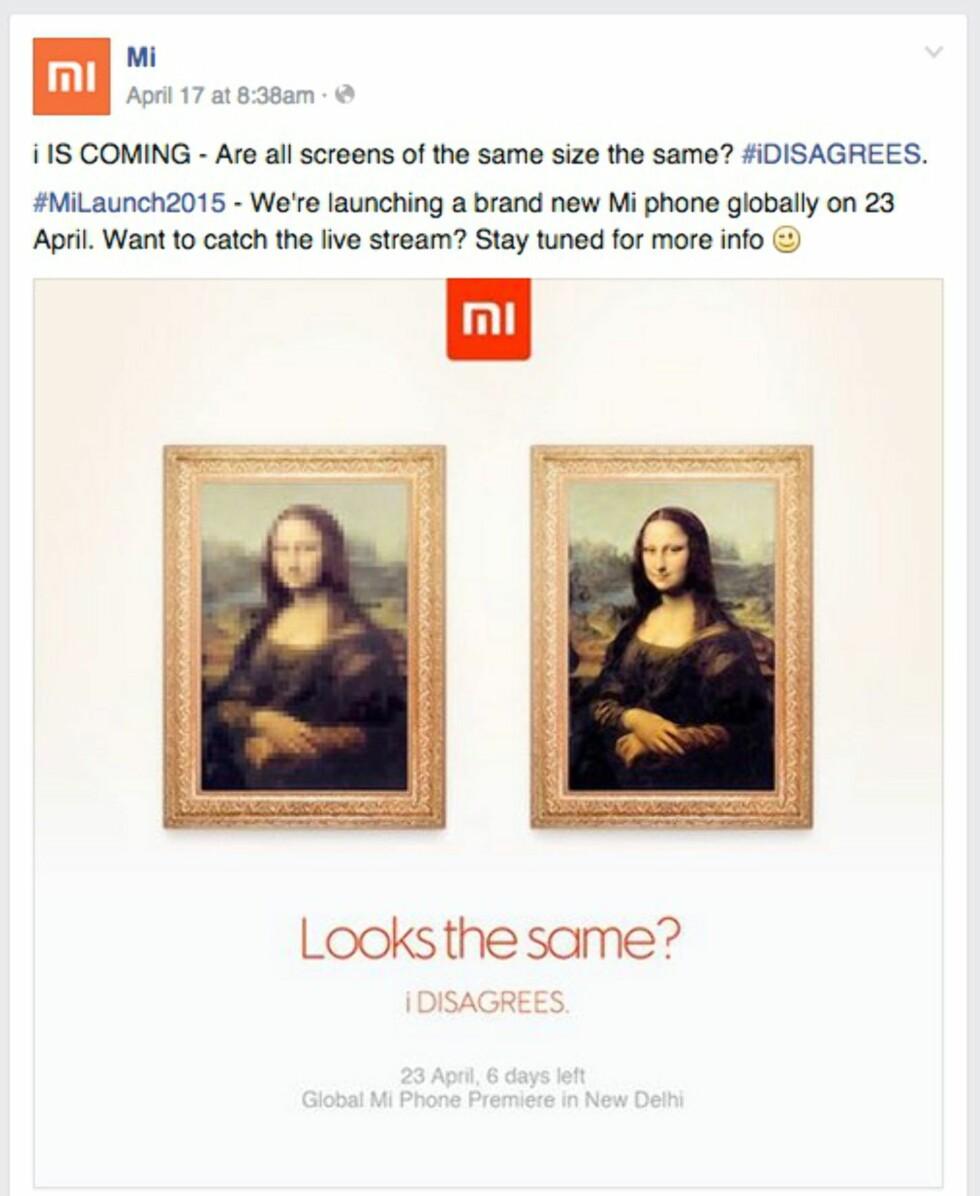 SKJERM: Xiaomi hinter til at i vil få en god skjerm.