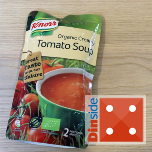 Tomatinnhold: 52 prosent tomater, 13 prosent tomatjuicekonsentrat. Pris: 35,90 kr, Ica