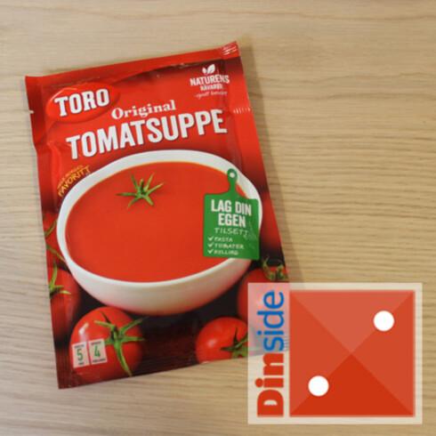 Tomatinnhold: 26 prosent. Pris: 19,60 kr, Ica