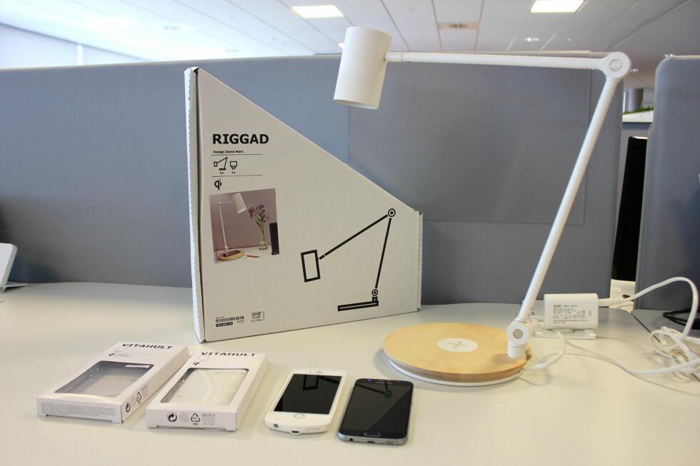 KREVER RETT MOBIL: Ikeas lademøbler er ikke kompatibel med alle telefoner. Foto: KIRSTI ØSTVANG