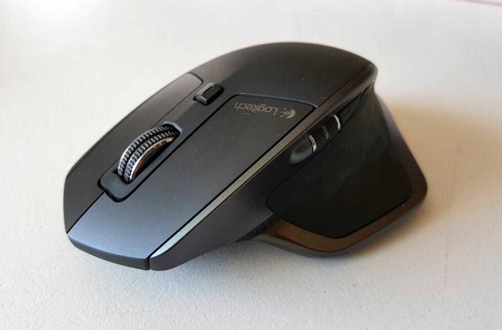 AVANSERT: Logitech mener MX Master er deres mest avanserte mus til nå. Foto: PÅL JOAKIM OLSEN